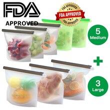 RASABOX - Reusable Silicone Food Storage Bag, Sandwich Bags, for Snacks, Freezer, Airtight Seal, Dishwasher Safe