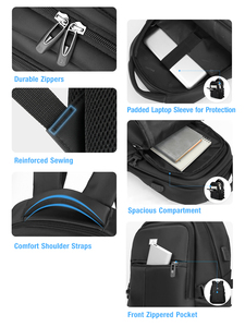 Image 4 - BaLang Laptop Backpack for 15.6 inch Charging USB Port Computer Backpacks Male Waterproof Man Busines Dayback Women Travel  Bags