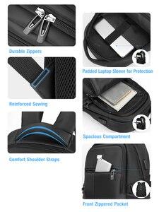 Image 4 - BaLang Laptop sırt çantası 15.6 inç şarj USB bağlantı noktası bilgisayar sırt çantaları erkek su geçirmez erkek iş sırt çantası kadın seyahat çantaları