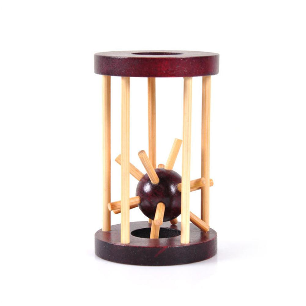 Kuulee Mini Wooden Puzzle Unlocking Toy Grab Sea Urchin In The Cage Labyrinth Brain Teaser Intellectual Gift Interesting Toys