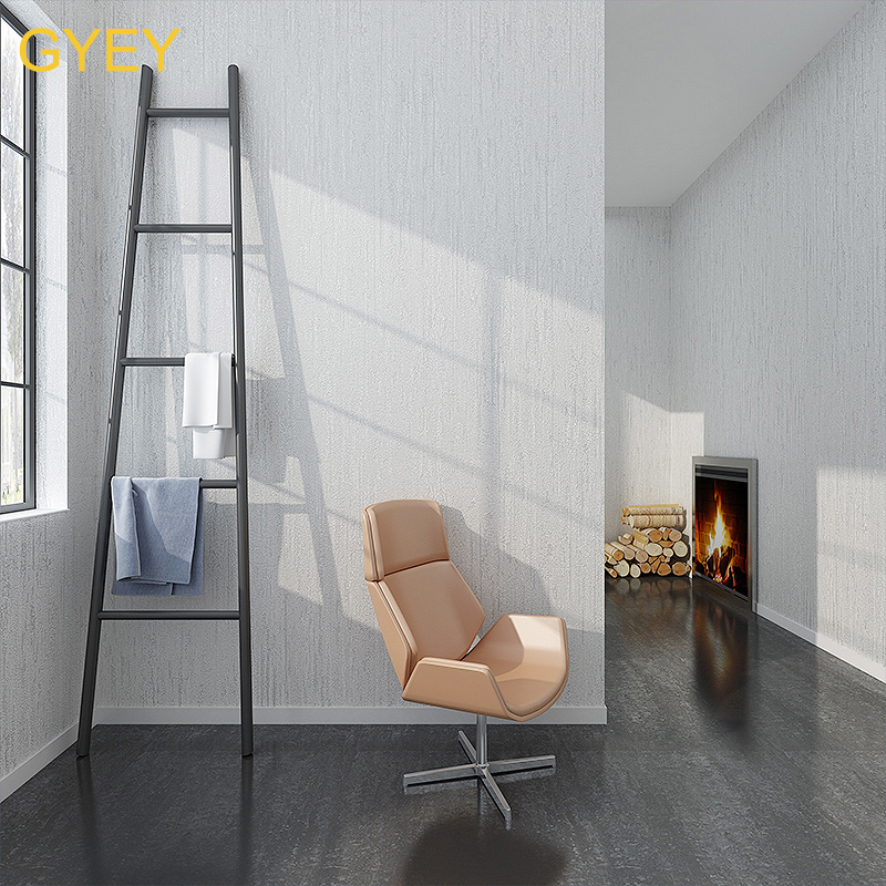 10m Modern Minimalist Plain Wallpaper White 3D Diatom Mud Solid Color non woven Living Room Bedroom Warm Wallpaper Nordic Style in Wallpapers from Home Improvement