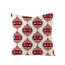 цены Green Series Linen Christmas Pillow Case Throw Pillow Case Sofa Decoration Home Christmas Sofa Pillow Case Christmas