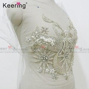 Image 3 - Seksowna gorsetowa aplikacja ze strasem na suknię ślubną WDP 118