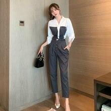 Корейская мода уличная одежда комплект из 2 предметов для женщин