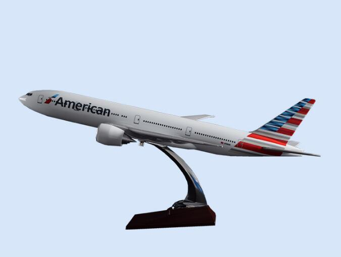 47cm Harz KLM Holland B747 Flugzeug Modell Vereinigten Staaten American Airlines <font><b>B777</b></font> Airbus Modell Reise Geschenk Flugzeug Modell Geschenk image