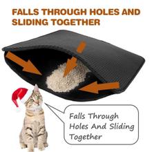 Litter-Mat Cat-House Pet-Supplies Clean Bed EVA Waterproof Double-Layer