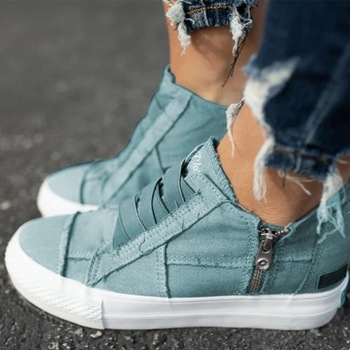 цена на 2020 Women Zapatos Mujer Comfy Canvas Shoes Fashion Sneakers Low Top Lace Up Comfortable Casual Shoes Walking Flats Trainers