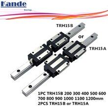 1 шт. линейная направляющая TRH15 + 2 шт. блок TRH15B или фланцевый блок TRH15A L 300 400 500 600 700 800 900 1000 мм для ЧПУ