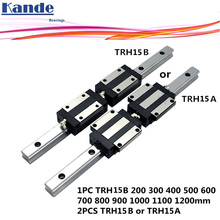 Precision rail 1PC TRH15 Linear guide + 2PCS TRH15B Block or TRH15A Flange Block L 300 400 500 600 700 800 900 1000 mm for CNC