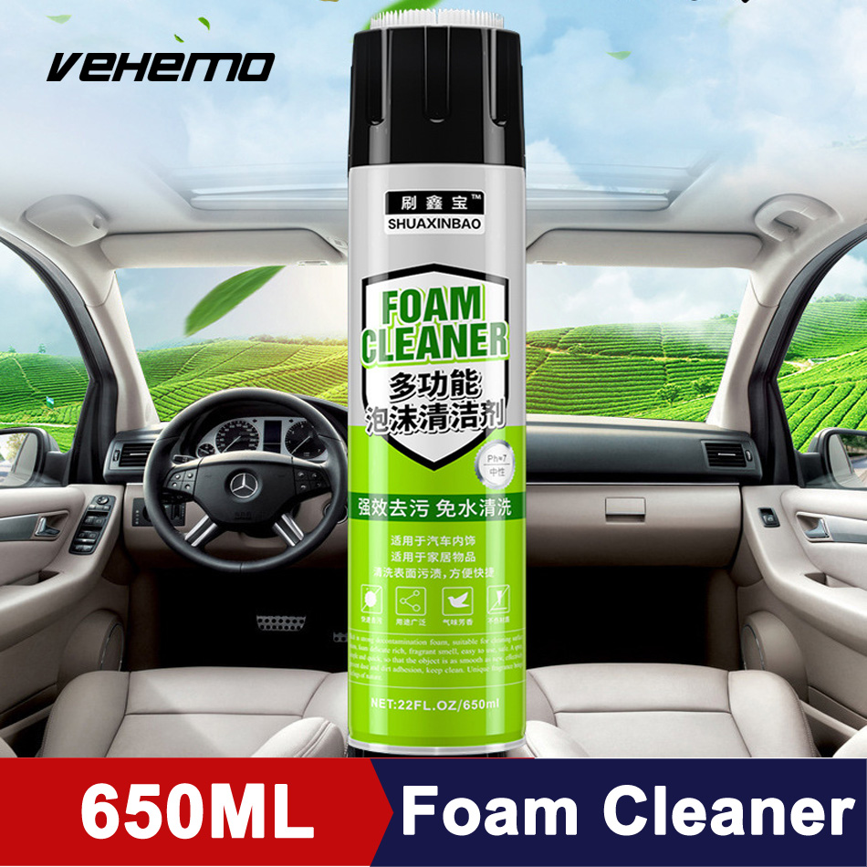 650ml Multifunctional Foam Cleaner Car Interior Cleaning Auto Washing Decontamination Universal Detergent