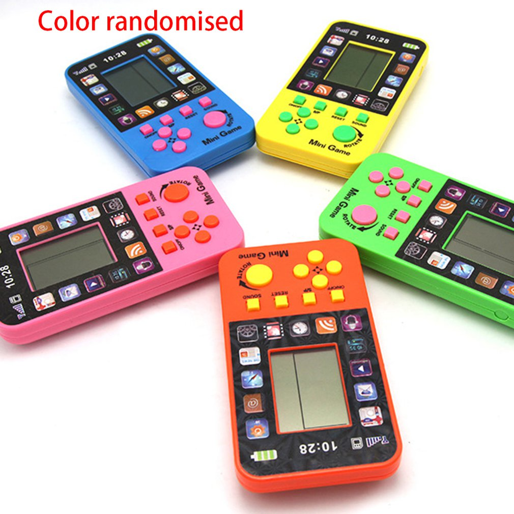 Portable Classic Tetris Handheld Game Toys Children's Handheld Game Console Video Game Tetris Puzzle Educational Electronic Toys