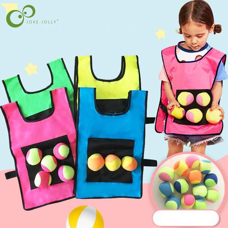 1 ensemble accessoires de jeu gilet collant Jersey gilet jeu gilet gilet avec 5 balle collante lancer enfants enfants en plein air amusant sport jouet GYH