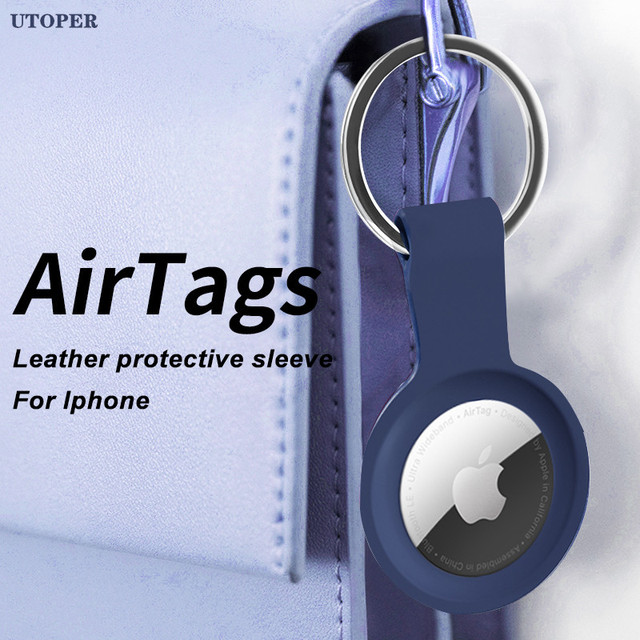 For Apple Airtag Liquid Silicone Protective Case For Apple Locator Tracker Anti lost Device Keychain Protective Sleeve Case Hot