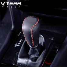 Vtear For Mazda CX-5 CX5 2018 2019 2020 Accessories leather Gear stick shift protection cover Interior Refit Car Styling MT AT(China)