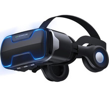 Blu Ray VR Virtual Reality 3Dกล่องแว่นตาสเตอริโอVR Google CardboardหูฟังชุดหูฟังสำหรับIOS Android Smartphone,Bluetooth Rocker