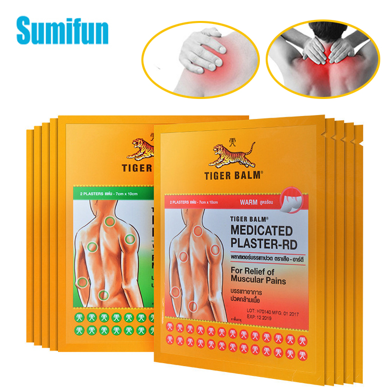Thailand Tiger Balm Capsicum And Cool Medical Plaster Body Muscle Arthritis Rheumatism Pain Relief Patch Medical Plaster C1684