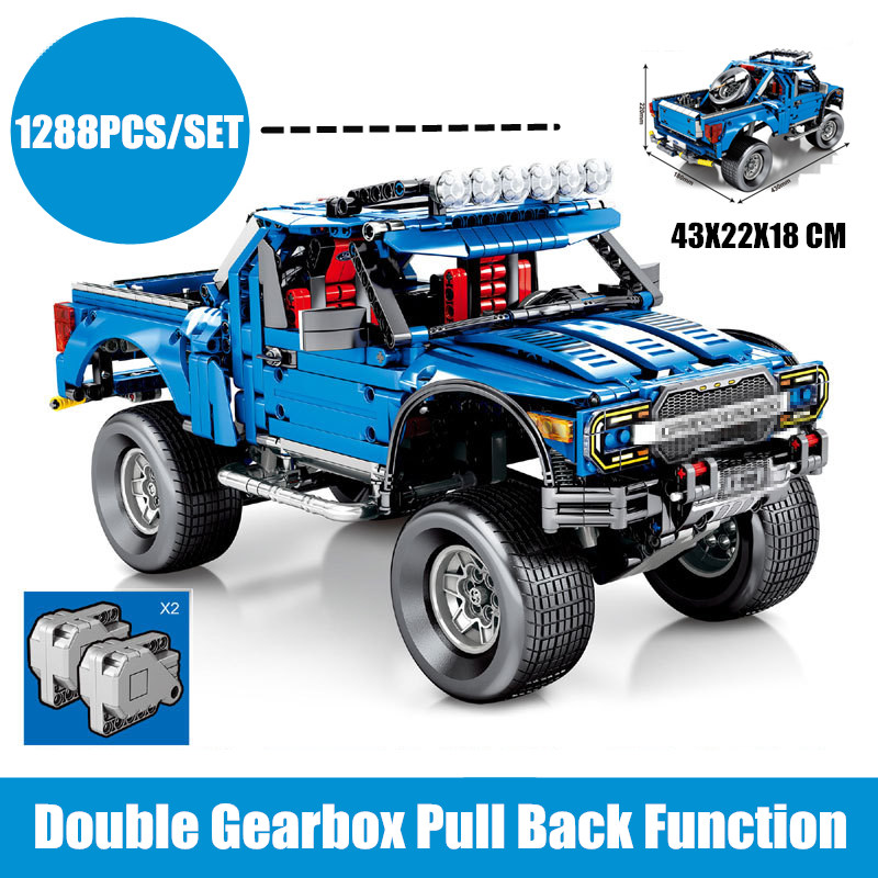 New Classic Technic Ford F 150 Raptor Pickup Car Truck Racing Fit Technic Car Model Building