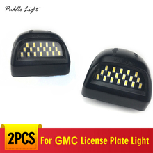 18LED License Plate Light Housing For GMC Sierra 1500 2500 3500 Yukon XL Chevy Silverado Tahoe Avalanche  Cadillac Escalade цена и фото