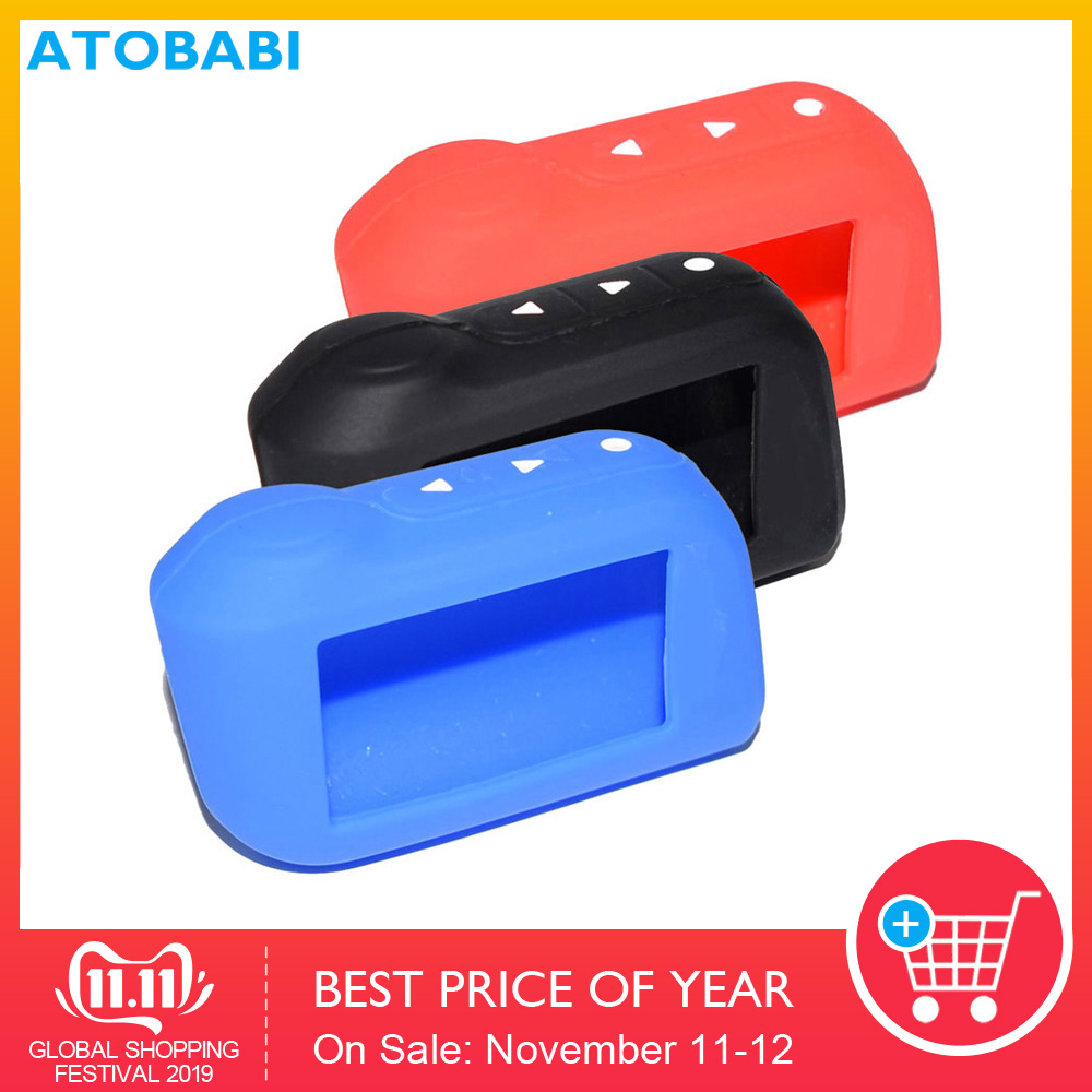 5 Colorful A93 Keychain Silicone Case Prefect for Starline A93 A63 Two Way Car Alarm Remote Controller A93 A63 LCD Transmitter