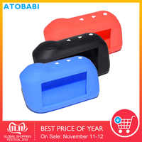 A93 Silicone Key Case For Starline A63 A39 A36 A66 A96 2-Way Car Alarm LCD Remote Control Transmitter Silica Gel Keychain Cover