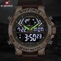 Мужские часы Топ бренд NAVIFORCE Модные Роскошные Кварцевые часы мужские s военные спортивные наручные часы Аналоговые Цифровые Relogio Masculino