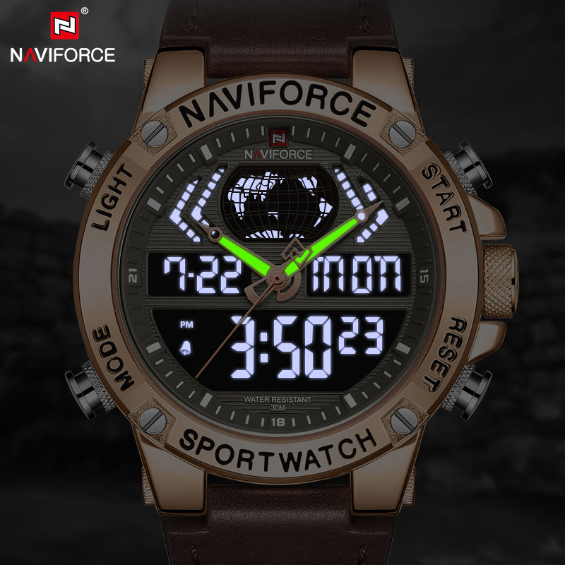 Men Watch Top Brand NAVIFORCE Fashion Luxury Quartz Watch Mens Military Sports Wristwatches Analog Digital Relogio Masculino