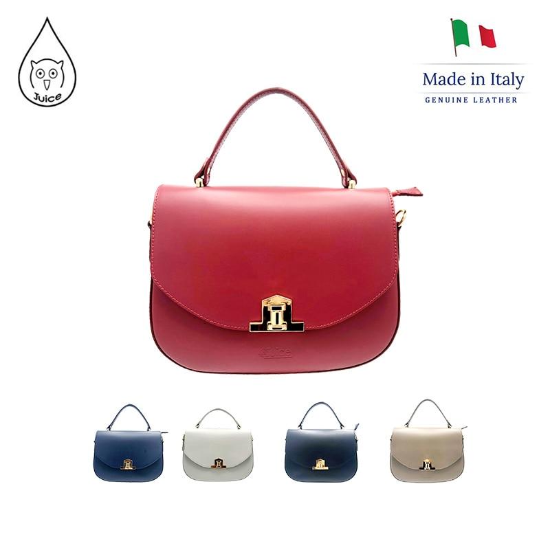JUICE ,made In Italy, Genuine Leather, Women Bag,handbag/cross Body,addition Long Shoulder Strap112035