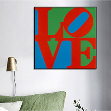 Canvas Art Print letter love Painting Poster Wall Pictures for Home Decoration Decor ROBERT INDIANA 1967