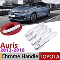 Для Toyota Auris E180 хэтчбек (AU) Scion iM 2013-2018 хромированные дверные ручки крышки наклейки на автомобиль отделка набор 2015 2017