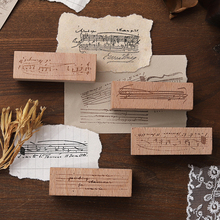 Wooden Scrapbooking Stamp Stationery for Symphony-Series DIY 6pcs/Lot