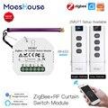 MoesHouse ZigBee RF433 Smart Curtain Switch Module Motorized Roller Shutter Blinds Motor 2MQTT Tuya Smart APP Alexa Google Home