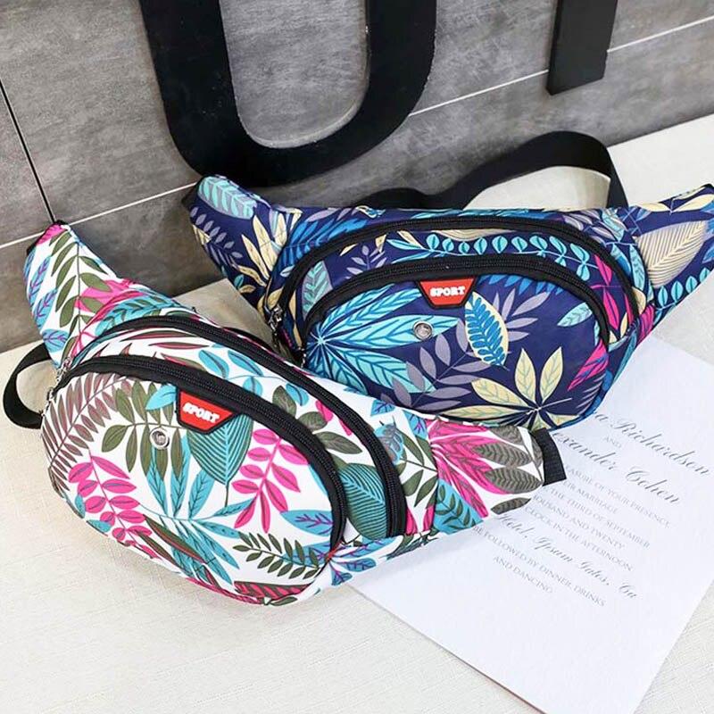 New Waist Bag Women Chest Bag For Men Nylon Printing Hip Bag Unisex High Capacity Hip Hop Banana Bag Shoulder Kidney Bags