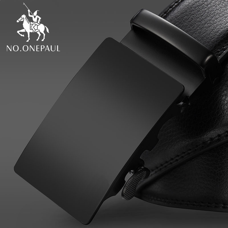 NO.ONEPAUL For Men Black Belts Genuine Leather Belts Luxury Brand Automatic Male Belts Cummerbunds Leather Belt Men Dropshipping