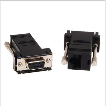 100pcs/Assemble complete DB9 Pin female to RJ45 female 8P8C male connector DB9 F to RJ45 8P8C