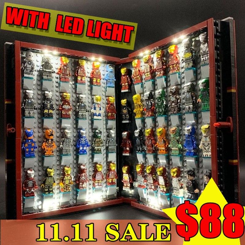 11.11 offre spéciale $88 achats gratuits Marvel Avenger Iron Man Legoset Collections livre LED construction lepinblock briques jouets cadeau