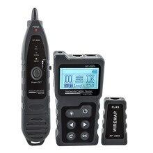 Testeur de câble réseau LCD, moniteur de fil, vérificateur de tension et de courant PoE en ligne avec testeur de câble