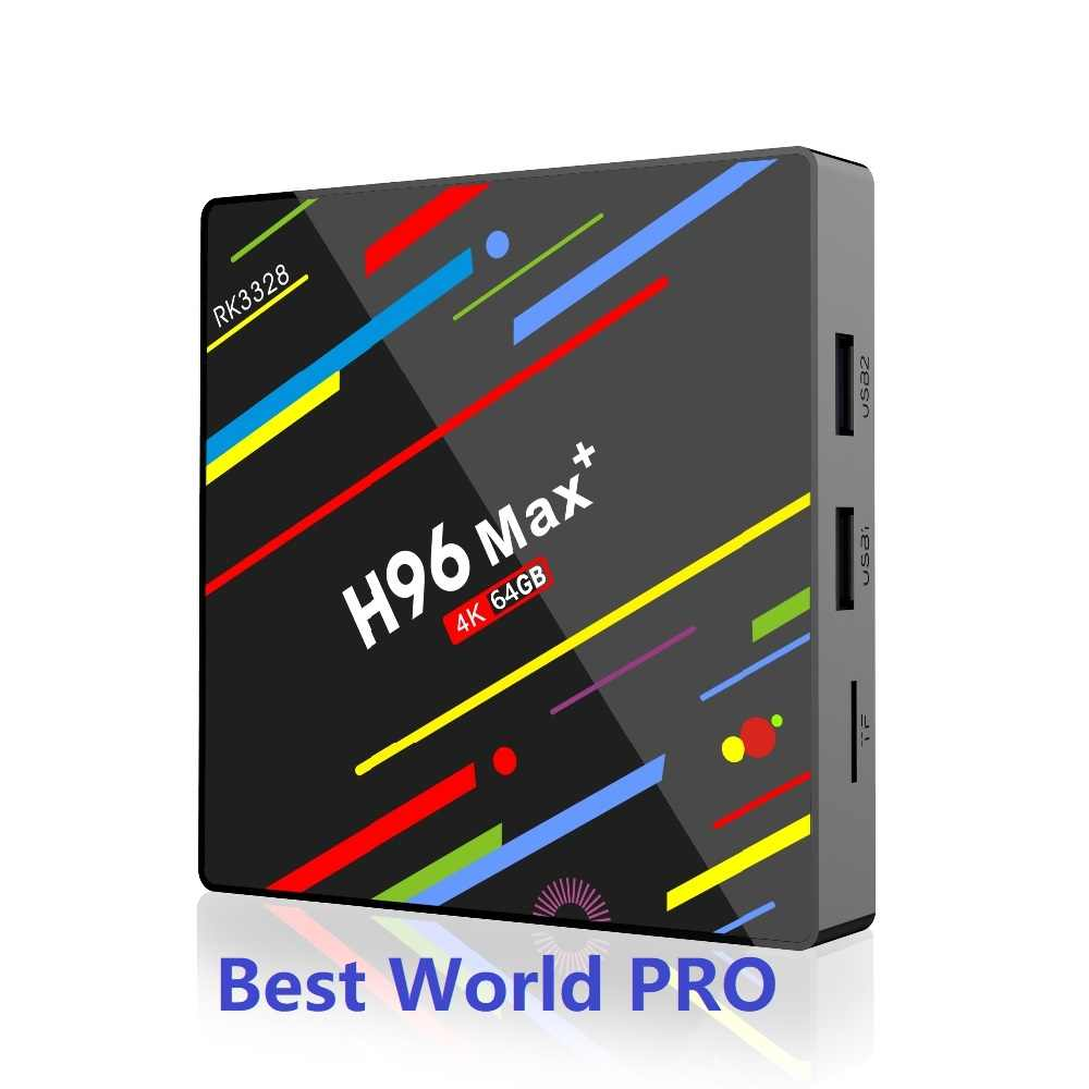Świat PRO H96 MAX ROCK 3328 chipset wifi usb 3.0 TV BOX z androidem Smart tv M3u Enigma2 STB