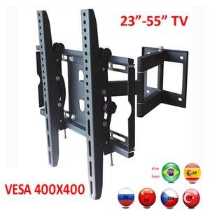Выдвижной настенный кронштейн для телевизора, светодиодный, 50кг, 3 рычага, 55-дюймовый, 42 дюйма, ЖК-дисплей с полным движением, выдвижная стойк...