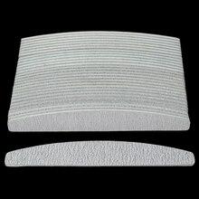 100 stks/partij Grijze Nagelvijl 100/180 Half Moon Grey Gebogen Nail Buffer Blokken Gel Polish Manicure Gereedschap Voor Nail Care leveranciers