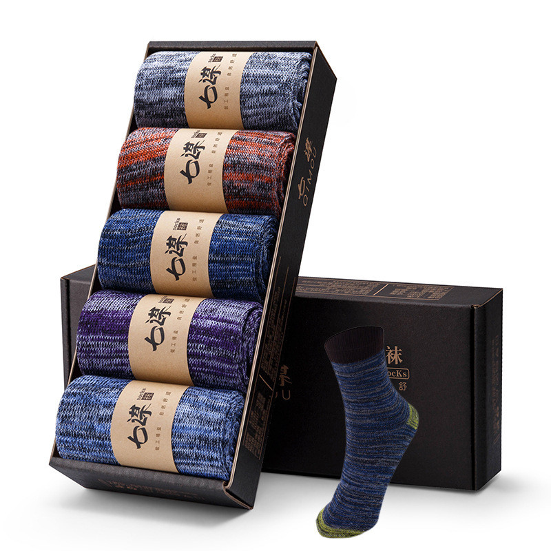 5 Pairs/Lot Men's Cotton Socks 2019 New Styles Black Business Men Socks Breathable Autumn Winter For Male