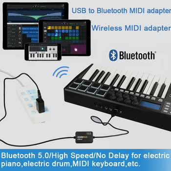 DOREMiDi Music Editor Wireless Bluetooth MIDI Adapter MIDI Adapter MIDI-USB To Wireless Bluetooth MIDI Adapter MIDI Cable MIDI