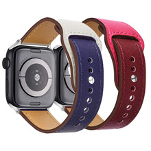 Genuine Leather Loop for Apple Watch Band 44mm 42mm Series 4 3 2 1 for Iwatch Strap 38mm 40mm Band for Apple Watch цена