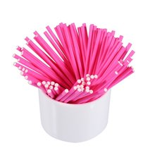 100pcs/pack 15cm Coloured Lollipop Sticks Cake Pop Sucker For Chocolate Sugar Candy Baking DIY Mold new 20pcs blue bling cake pop sticks great for weddings baby showers parties rhinestone bling cakepops sticks bling candy sticks
