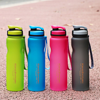 High Quality Portable The Original PC 1000ml  Water Bottle With Rope 1L Large Capacity Flip Lid Plastic Sports&Outdoor Kettle 1