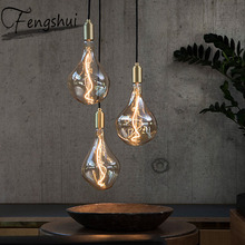 Modern Iron Art Pendant Lights Lighting Industrial Style Restaurant Living Room Bedroom Aisle Bar Study Home Decor Hanging Lamp