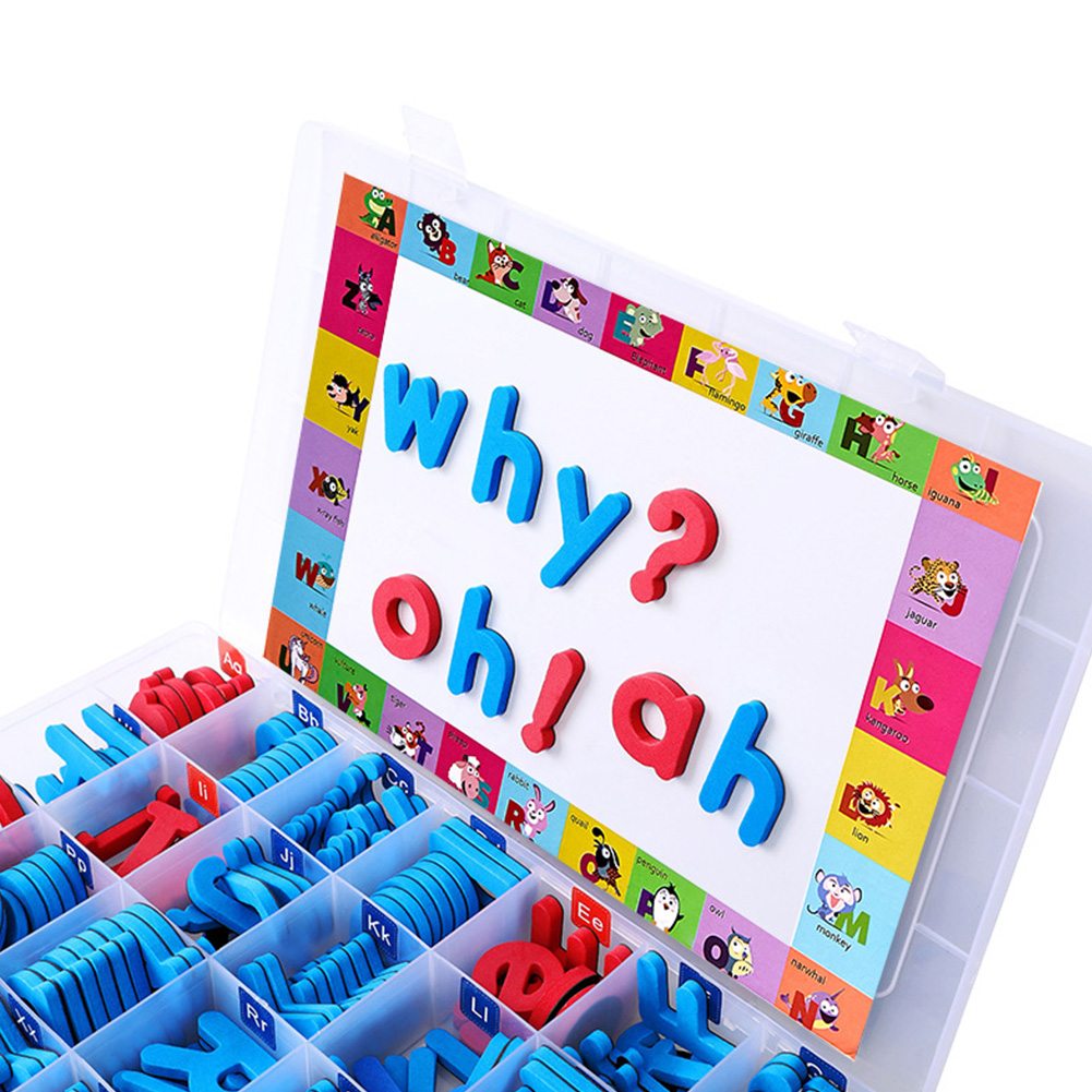 Kids Toy Learning With Magnet Board School Early Education Spelling EVA Alphabet Magnetic Letters Set Fridge Stickers Classroom