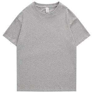 240g XS-4XL Männer T-Shirts Männlichen Sommer Casual T-shirts Männer Kurzen Drop Schulter Baumwolle Grund Plain Solide T-shirts Frauen plus Größe
