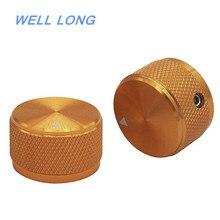 4 шт. золотого алюминиевого сплава управление с помощью потенциометра регулятор громкости аудио электрогитары опорные винты типа 25x15,5 мм(dh) KNOB-03-25GLD