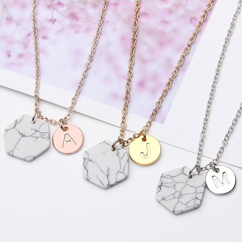 Kamień marmur naszyjnik łańcuch geometryczny choker damski Chocker collana Bijoux Collier Femme Joyas mujer ras du cou