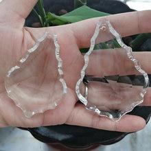 Camal 10 sztuk 63mm 76mm Suncatcher kryształ francuski Faceted Maple Leaf żyrandol wisiorek pryzmat wiszący Ornament Fengshui części lampy
